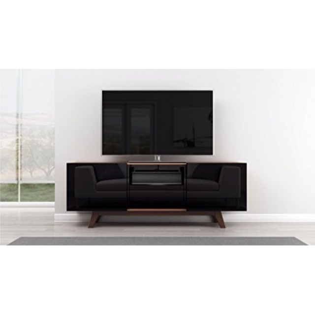 """Most Popular Lederman Tv Stands For Tvs Up To 70"""" Within Furnitech 70"""" Black Lacquer Media Console 70 Inch Modern (View 7 of 20)"""