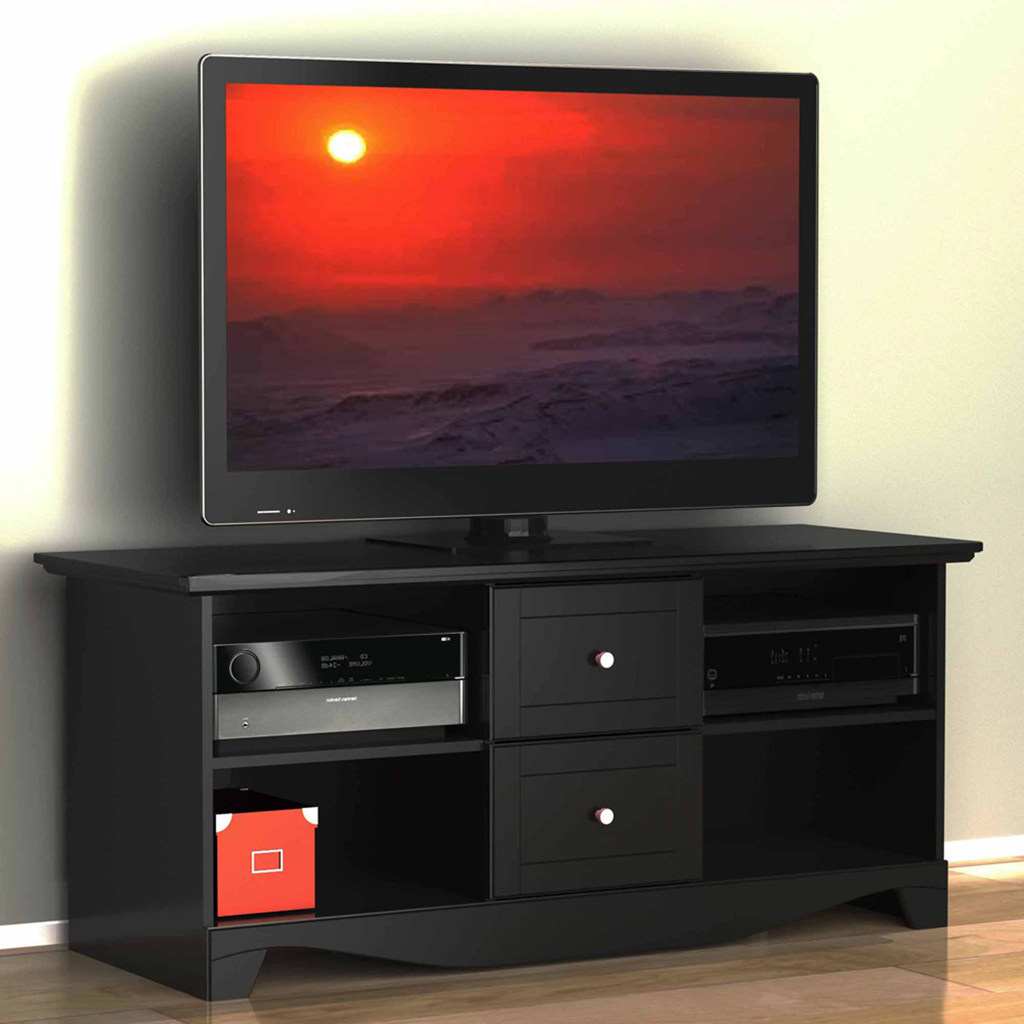 """Most Popular Lorraine Tv Stands For Tvs Up To 60"""" For Visions Black Tv Stand, For Tvs Up To 60"""" – Walmart (View 16 of 20)"""
