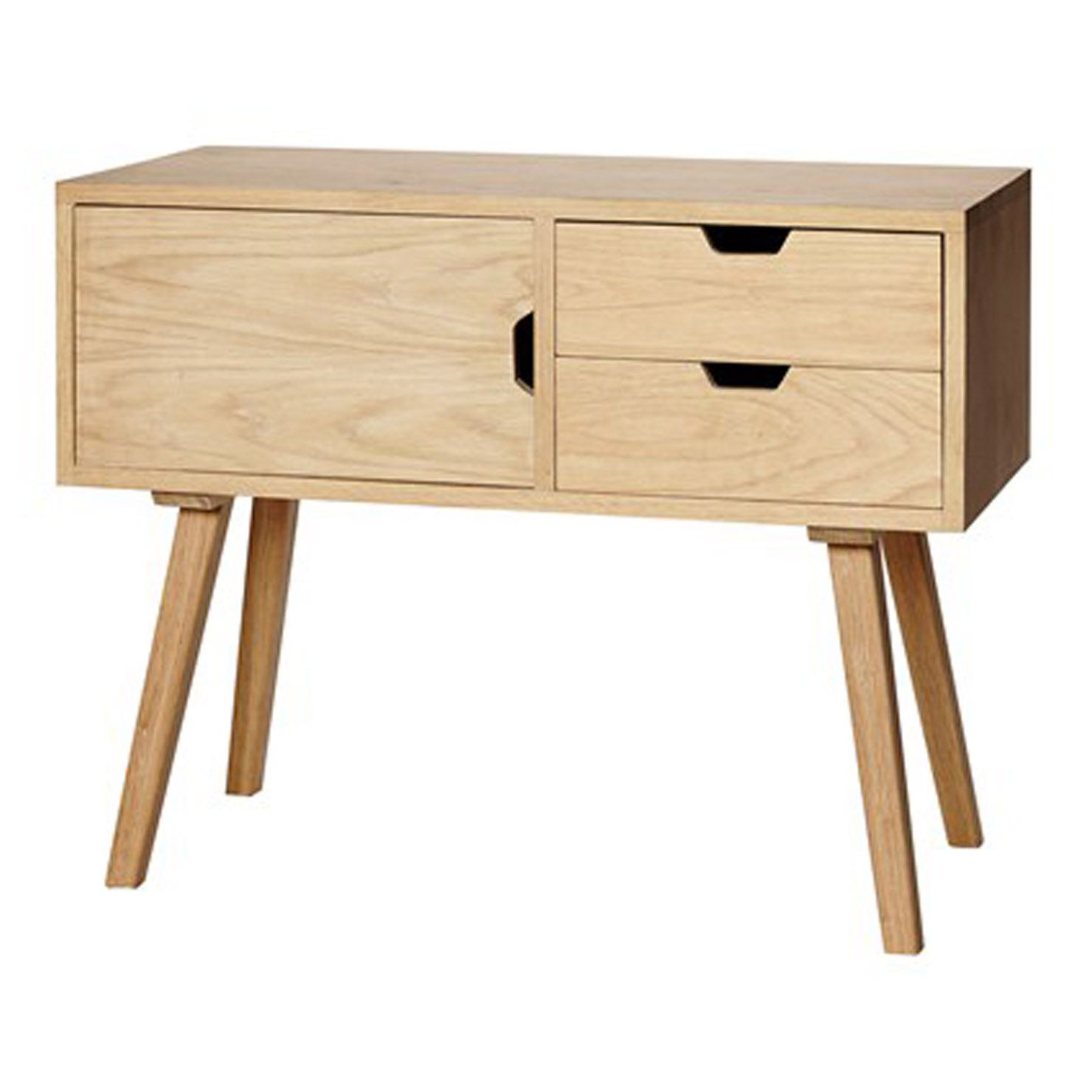 """Most Popular Orianne 55"""" Wide 2 Drawer Sideboards Intended For Dresser W/2 Drawers & Door, Oak, Nature (View 18 of 20)"""