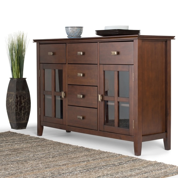 """Most Popular Shop Wyndenhall Stratford Solid Wood 54 Inch Wide In Brentley 54"""" Wide 1 Drawer Sideboards (View 12 of 20)"""