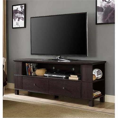 """Most Recent Adrien Tv Stands For Tvs Up To 65"""" With Regard To Walker Edison 65 Inch Tv Stand With Multimedia Storage (View 6 of 20)"""