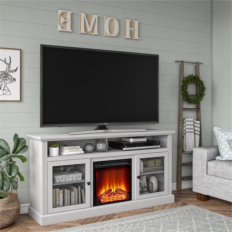 """Most Recent Ameriwood Home Chicago Fireplace Tv Stand Up To 65"""" In Regarding Finnick Tv Stands For Tvs Up To 65"""" (View 18 of 20)"""