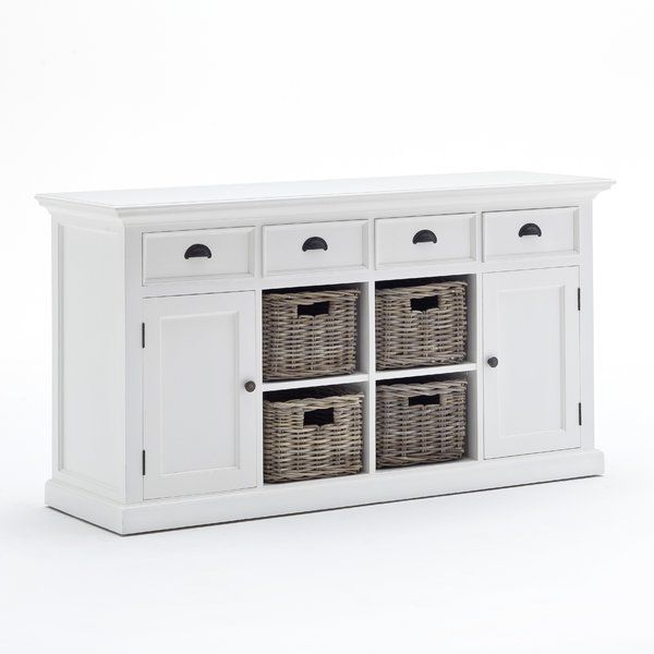 """Most Recent Amityville 63"""" Wide 4 Drawer Wood Sideboard (View 19 of 20)"""