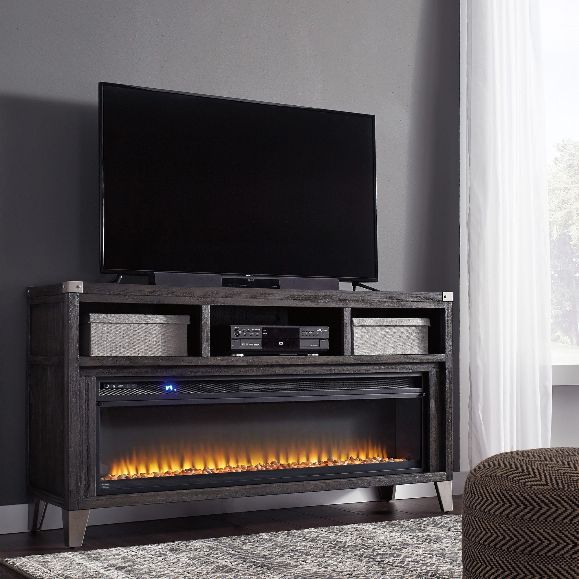 """Most Recent Ashley Todoe 65"""" Tv Stand W/ Fireplace (View 9 of 20)"""