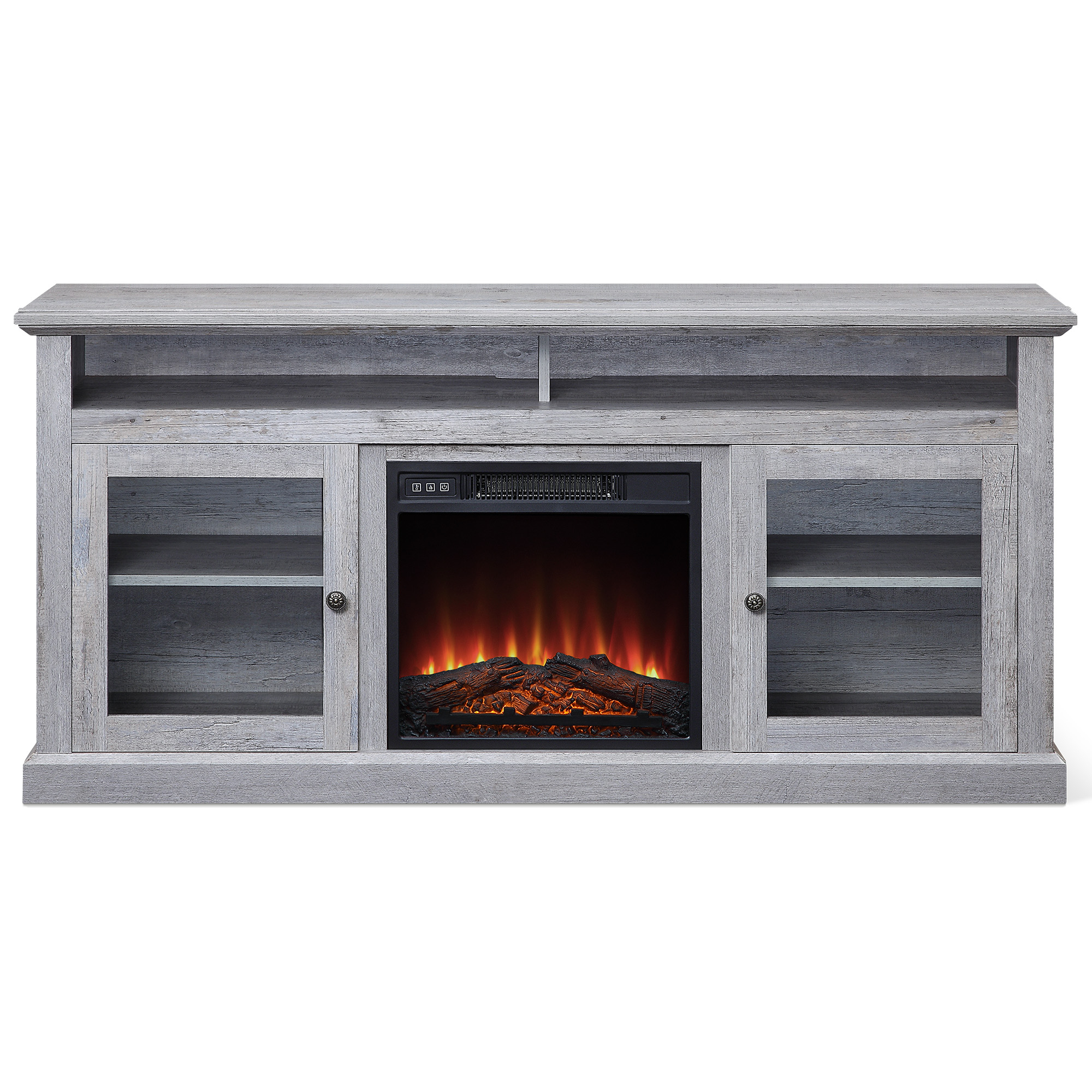 """Most Recent Belleze 60"""" Entertainment Center Tv Stand Console With Intended For Leafwood Tv Stands For Tvs Up To 60"""" (View 9 of 20)"""