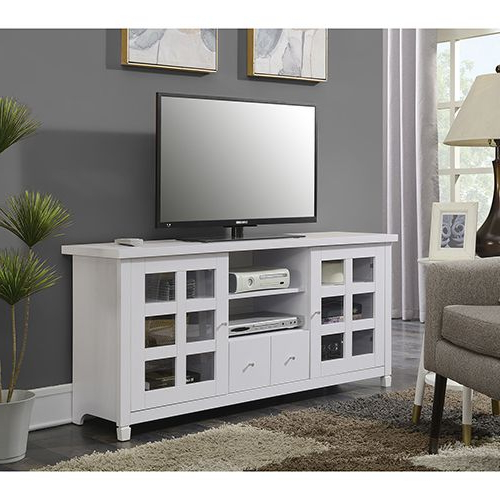 """Most Recent Convenience Concepts Newport Park Lane White 60 Inch Tv For Herington Tv Stands For Tvs Up To 60"""" (View 6 of 20)"""