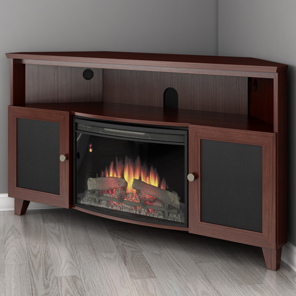 """Most Recent Furnitech Ft61sccfb Shaker Corner Tv Stand Console With Throughout Bloomfield Tv Stands For Tvs Up To 65"""" (View 4 of 20)"""