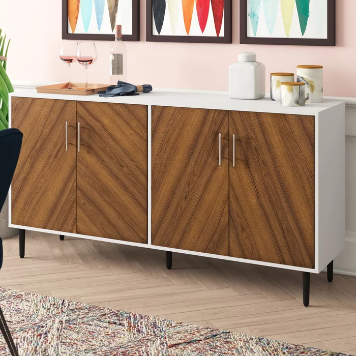 """Most Recent Keiko Bookmatch 58"""" Wide Sideboard In 2020 (with Images Inside Islesboro 58"""" Wide Sideboards (View 10 of 20)"""