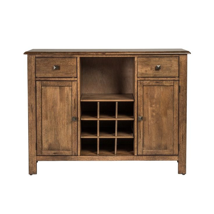"""Most Recent Loganville 48"""" Wide 2 Drawer Rubberwood Wood Server Inside Dostie 48"""" Wide Buffet Tables (View 2 of 20)"""