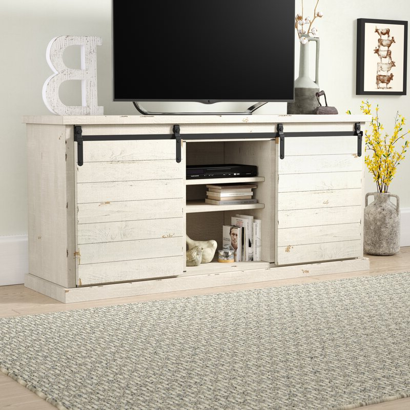 """Most Recent Lucille Tv Stands For Tvs Up To 75"""" Pertaining To Gracie Oaks Laursen Solid Wood Tv Stand For Tvs Up To (View 18 of 20)"""