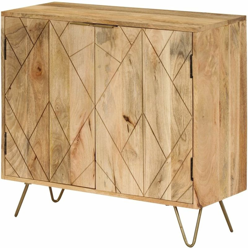 """Most Recent Maddox 80"""" Wide Mango Wood Sideboards Inside Sideboard Solid Mango Wood 80x30x75 Cm (View 18 of 20)"""