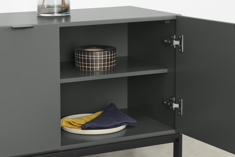 Most Recent Marcell Wide Sideboard, Grey (View 9 of 20)
