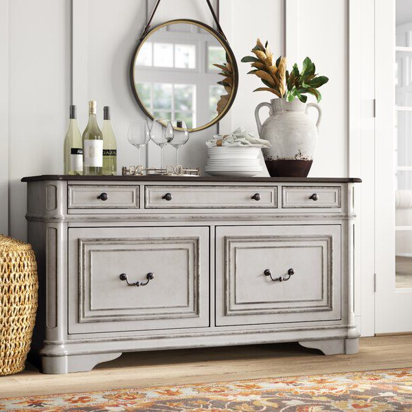 """Most Recent Salinas 56"""" Wide 3 Drawer Sideboard In 2020 (Gallery 5 of 20)"""