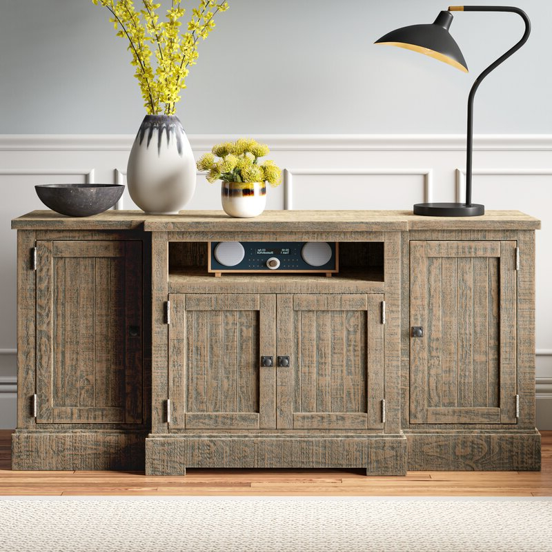 Most Recently Released Blaire Solid Wood Tv Stands For Tvs Up To 75 With Regard To Simeon Solid Wood Tv Stand For Tvs Up To 78 Inches (View 20 of 20)