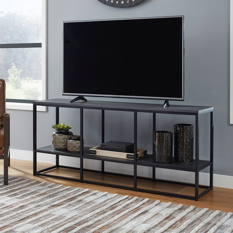 """Most Recently Released Finnick Tv Stands For Tvs Up To 65"""" Regarding Yarlow 65 Inch Tv Stand Signature Design (View 3 of 20)"""