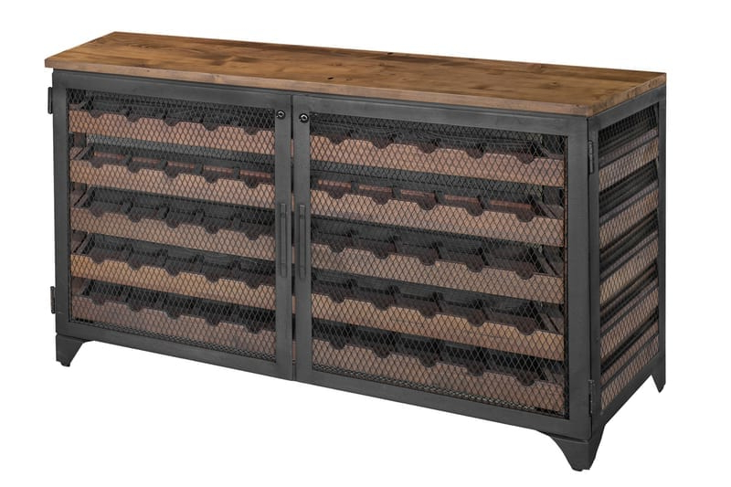 """Most Recently Released Vino Sideboard Locker 55 Bottles – Westcoast Solid Wood Pertaining To Tabernash 55"""" Wood Buffet Tables (View 17 of 20)"""