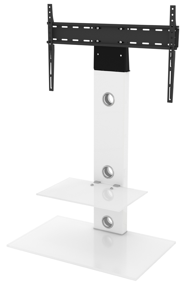 """Most Up To Date Avf Fsl700lesww Lesina Flat Pedestal Tv Stand 700 For Up For Finnick Tv Stands For Tvs Up To 65"""" (View 19 of 20)"""