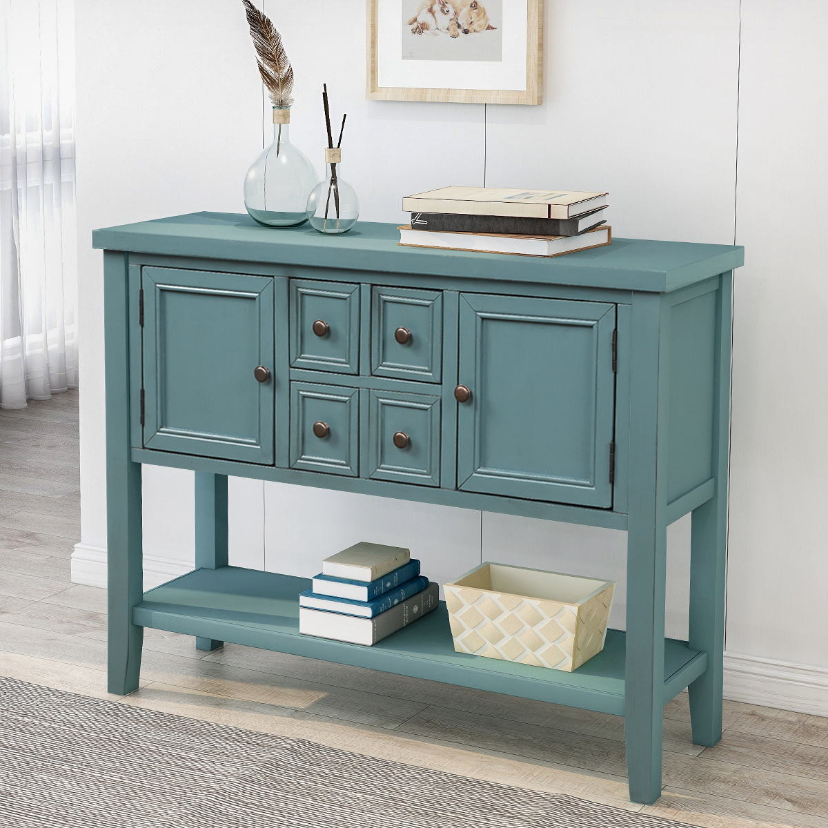 """Most Up To Date Desirae 48"""" Wide 2 Drawer Sideboards With Regard To Clearance!console Table Buffet Sideboard, 2020 New (View 3 of 20)"""