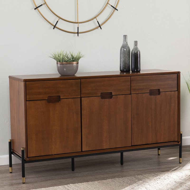 """Most Up To Date Foundry Select Luddingmore 54"""" Wide 3 Drawer Buffet Table For Annabella 54"""" Wide 3 Drawer Sideboards (View 7 of 20)"""
