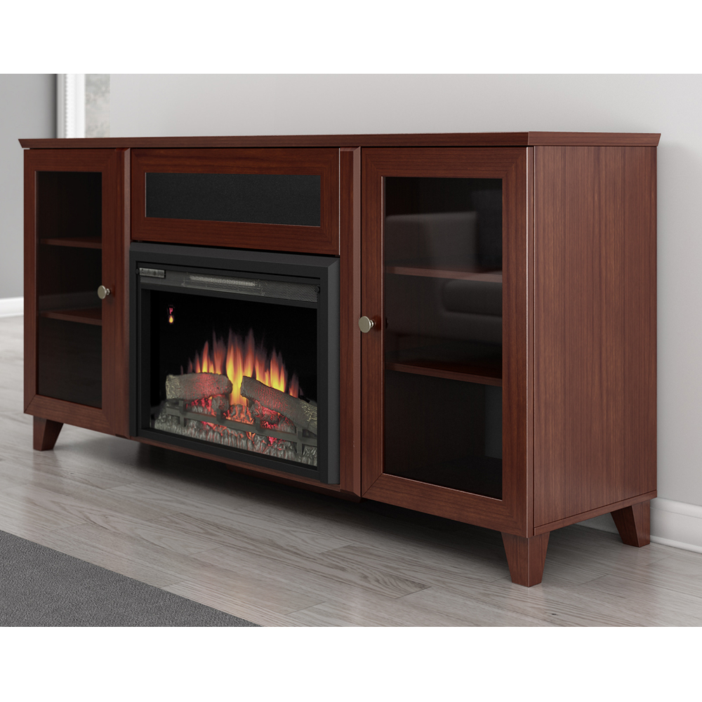 """Most Up To Date Furnitech Ft70scfb Shaker Tv Stand Console With Electric Pertaining To Huntington Tv Stands For Tvs Up To 70"""" (View 14 of 20)"""