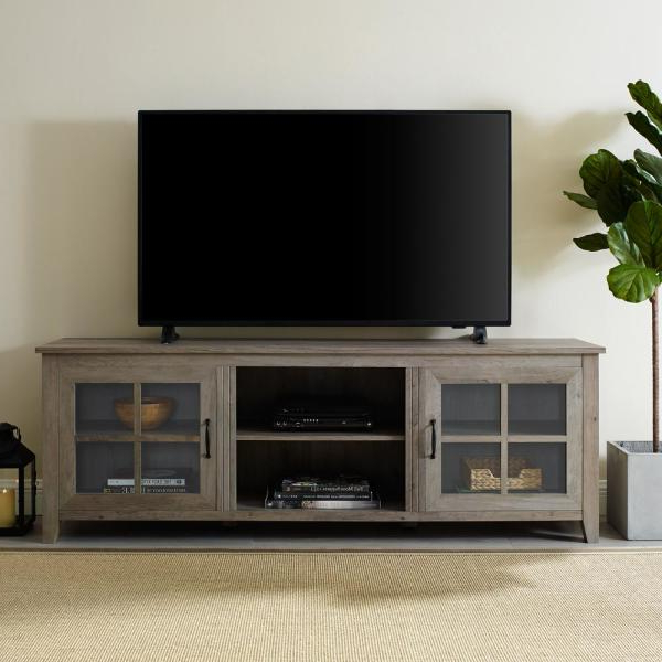 """Most Up To Date Lorraine Tv Stands For Tvs Up To 70"""" With Regard To Walker Edison Furniture Company 70 In (View 9 of 20)"""