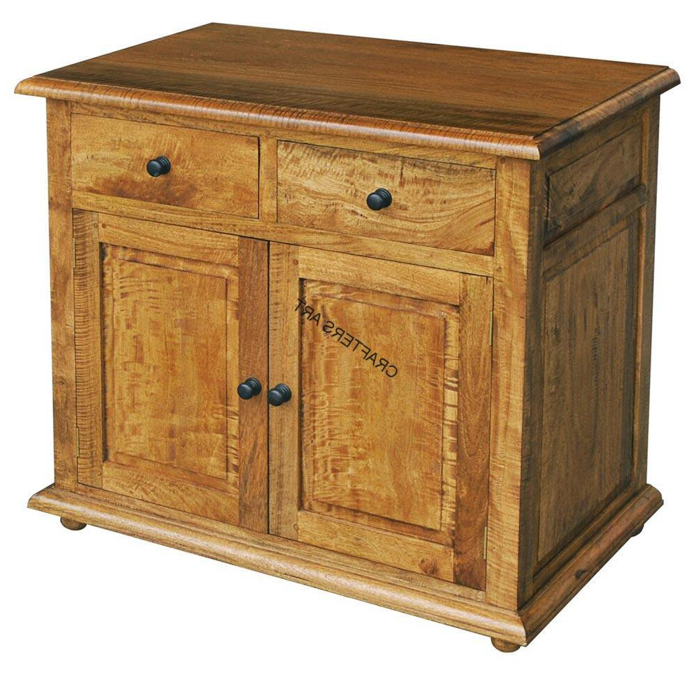 """Most Up To Date Maddox 80"""" Wide Mango Wood Sideboards Intended For Indian Traditional Mango Wood Small Sideboard – Craftersart (View 19 of 20)"""