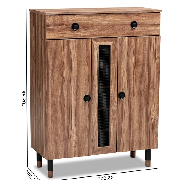 Most Up To Date Millwood Pines Floor Storage Cabinet With 2 Doors And 2 Open Shelves With Regard To Millwood Pines Modern And Contemporary 2 Door Wood (View 6 of 20)