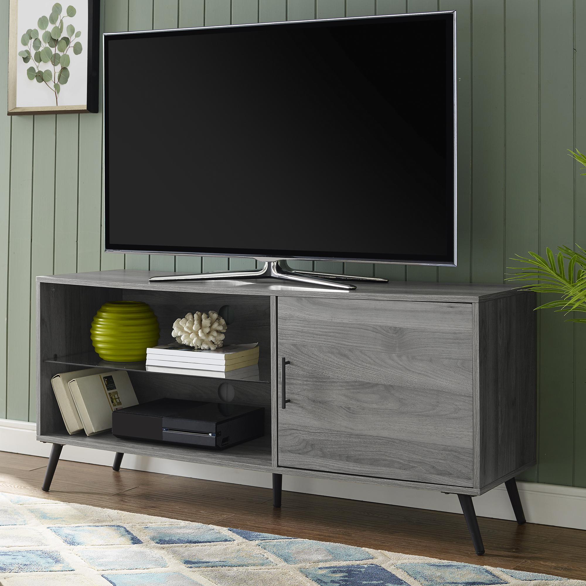 """Most Up To Date Thea Slate Grey Tv Stand For Tvs Up To 58""""bellamy Intended For Labarbera Tv Stands For Tvs Up To 58"""" (View 5 of 20)"""