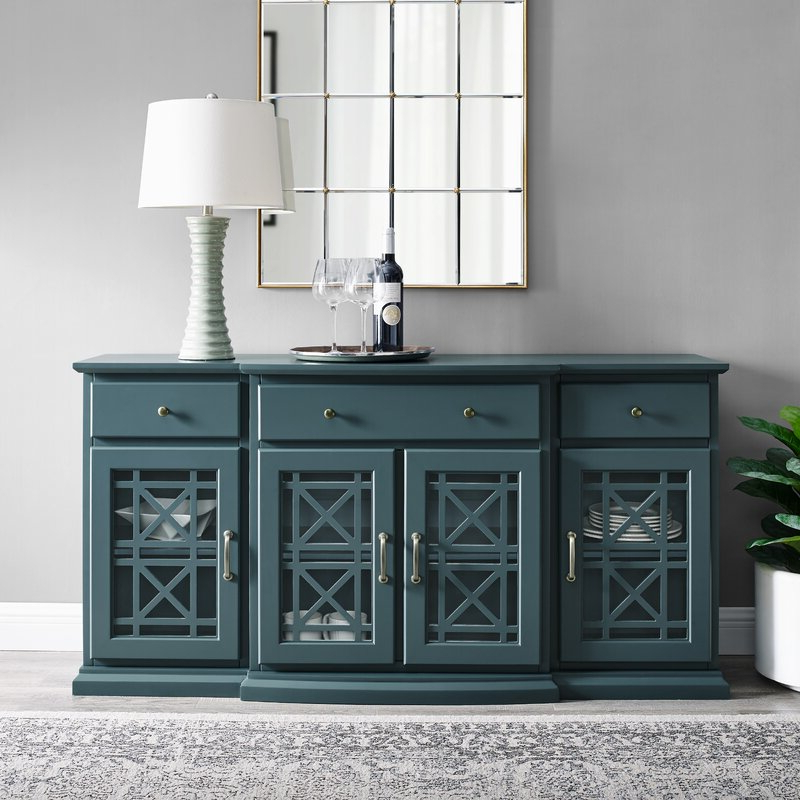 """Myndi 60"""" Wide Sideboards Pertaining To Latest Red Barrel Studio® Muli 60"""" Wide 3 Drawer Sideboard (View 10 of 20)"""