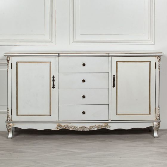 """Nahant 36"""" Wide 4 Drawer Sideboards With Regard To Most Popular French Style Antique Silver 4 Drawer Sideboard (View 3 of 20)"""