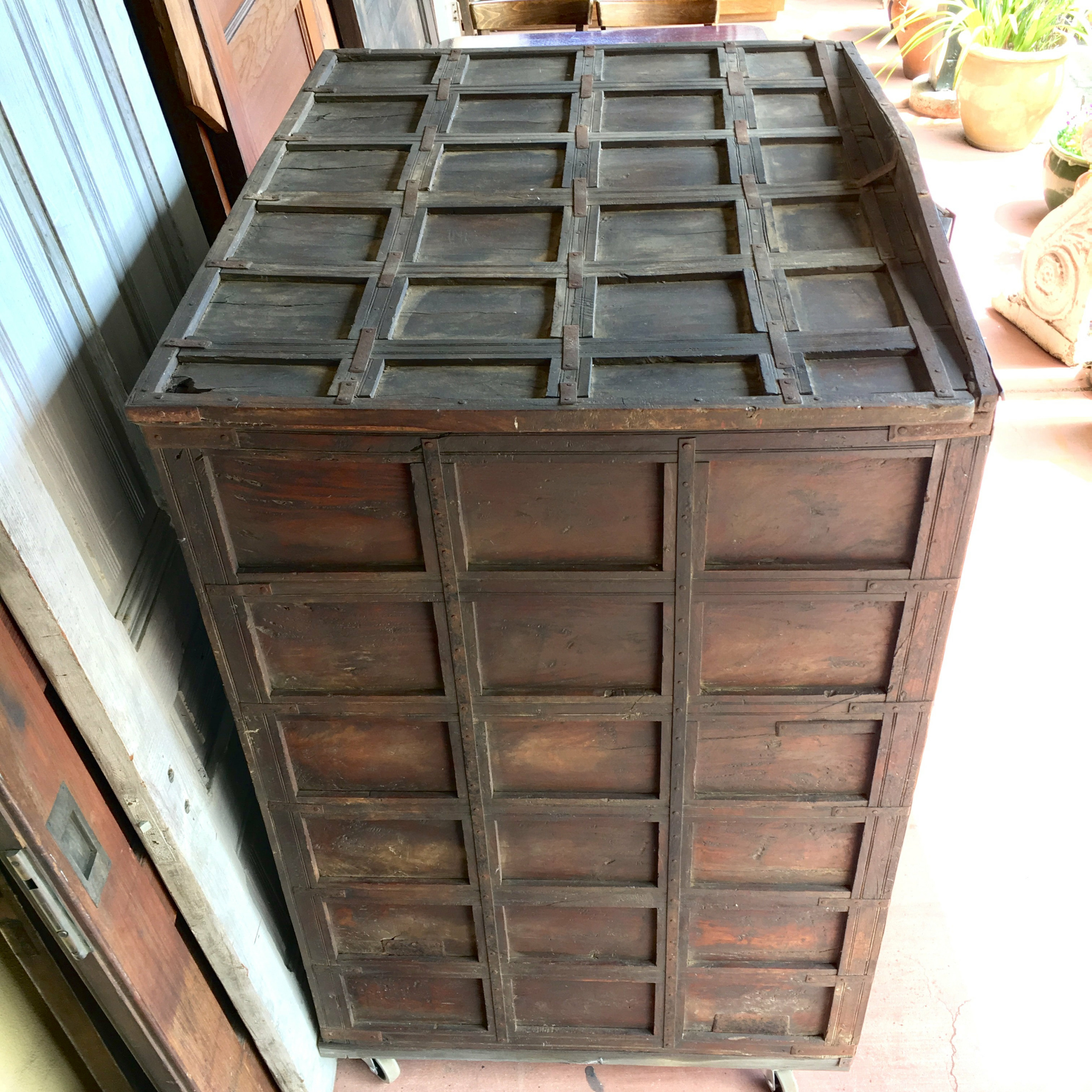 """Nazarene 40"""" H X 52"""" W Standard Bookcase Inside Most Recently Released Balinese Cabinet W/ Stippled Copper Accents (View 19 of 20)"""
