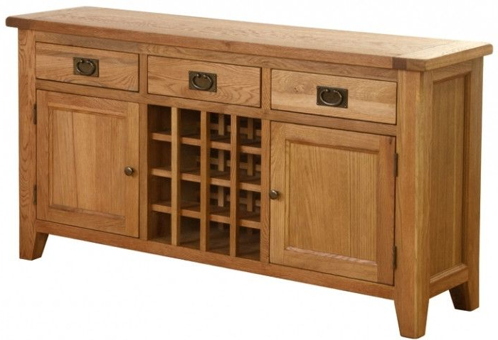 New Hampshire Oak Sideboard With Wine Rack (View 11 of 20)