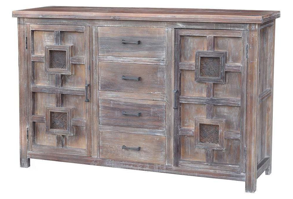 """Newest Barkell 42"""" Wide 2 Drawer Acacia Wood Drawer Servers Intended For Pin On Living Room (View 6 of 20)"""