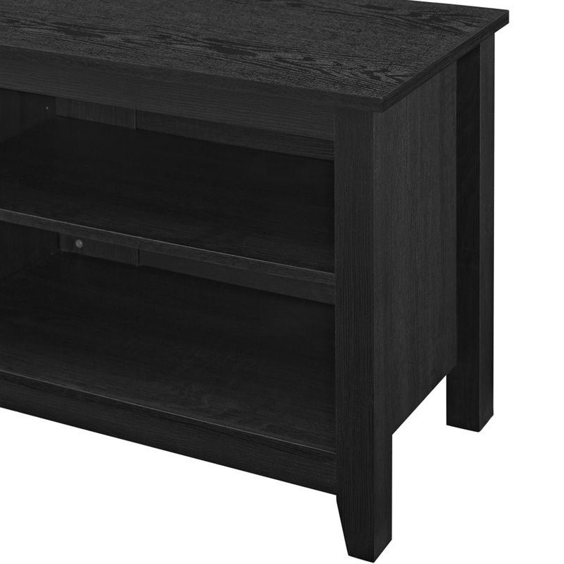 """Newest Berene Tv Stands For Tvs Up To 58"""" With Pemberly Row 58"""" Wood Tv Stand With Mount In Black (View 19 of 20)"""