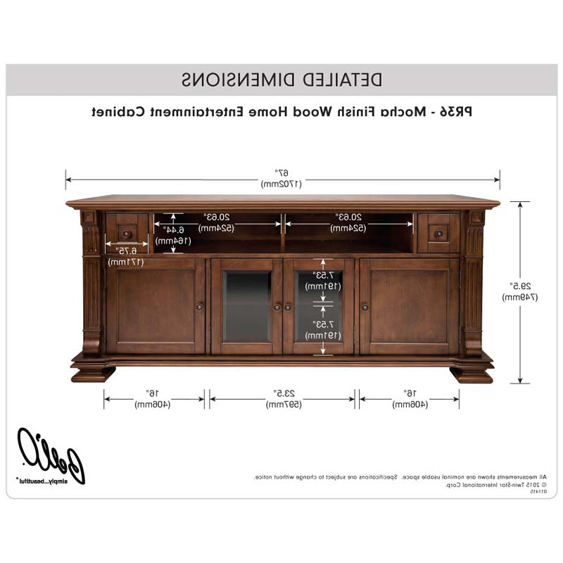 Newest Blaire Solid Wood Tv Stands For Tvs Up To 75 Pertaining To Bello Elegant Solid Wood Tv Cabinet For 75 Inch Tvs Mocha Pr (View 14 of 20)