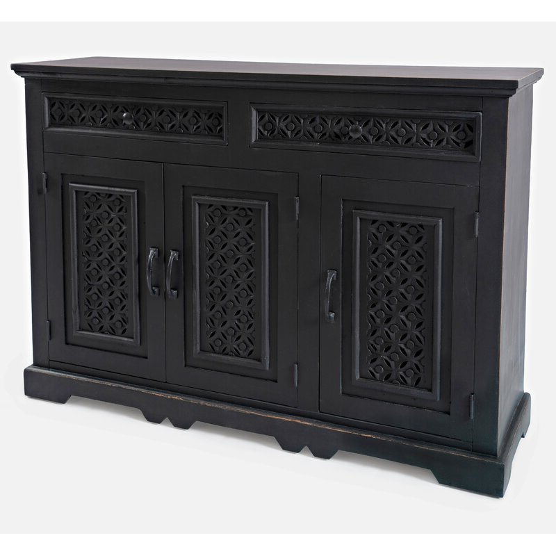 """Newest Bungalow Rose Lorraine 48"""" Wide 2 Drawer Acacia Wood For Lorraine 48"""" Wide 2 Drawer Acacia Wood Drawer Servers (View 5 of 17)"""