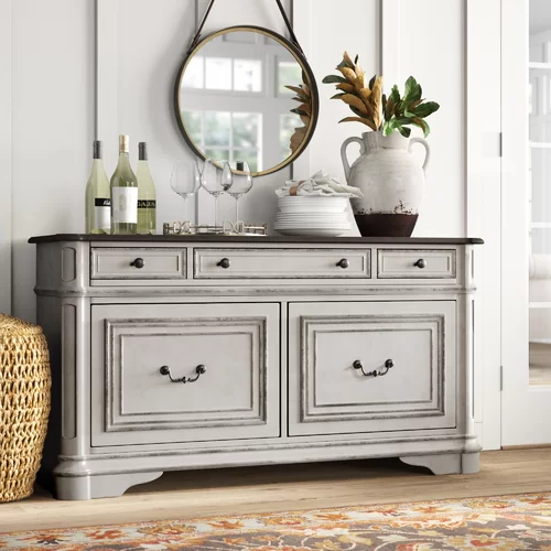 """Newest Clarkedale 56"""" Wide 3 Drawer Sideboard In  (View 20 of 20)"""