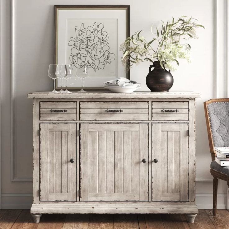 """Newest Findley 66"""" Wide Sideboards Intended For Studio 56"""" Wide 3 Drawer Sideboard In (View 3 of 20)"""