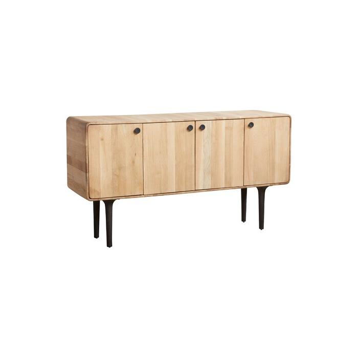 "Newest Jakobe 66"" Wide Sideboards Within Massillon 66"" Wide Oak Wood Sideboard (View 8 of 20)"