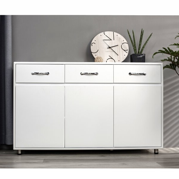 """Newest Latitude Run® Absarokee 52.36"""" Wide 3 Drawer Sideboard Intended For Abdisalan (View 6 of 20)"""