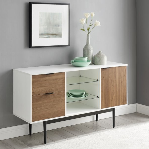 """Newest Milena 52"""" Wide 2 Drawer Sideboards Inside Foundry Select Slattery 52"""" Wide 2 Drawer Buffet Table (View 10 of 20)"""
