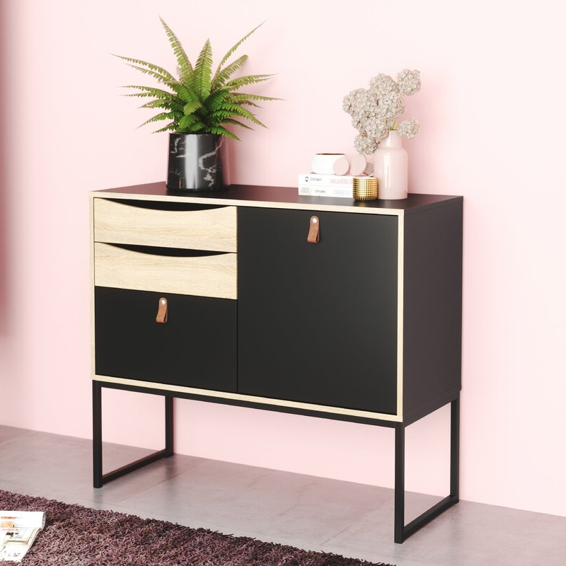 """Newest Raymund 38.86"""" Wide 3 Drawer Buffet Table & Reviews Regarding Raymund (View 2 of 20)"""