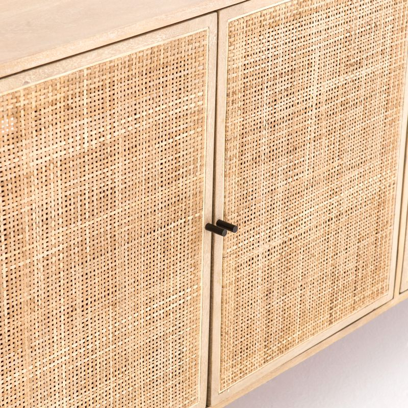 """Northwood 72"""" Wide Mango Wood Buffet Tables Regarding Fashionable Natural Mango Wood And Cane Buffet – Mecox Gardens (View 14 of 20)"""