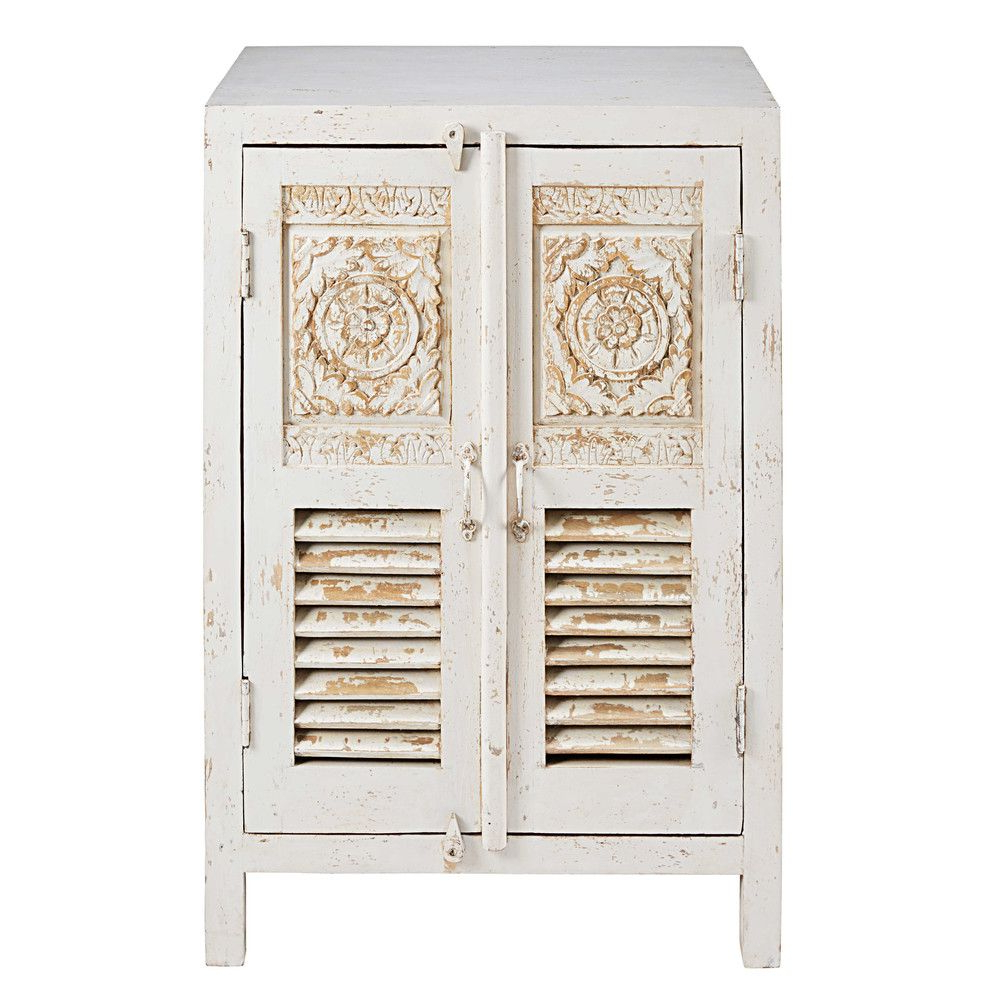 """Northwood 72"""" Wide Mango Wood Buffet Tables Within Widely Used Patinated White Mango Wood 2 Drawer Sculpted Sideboard (View 15 of 20)"""
