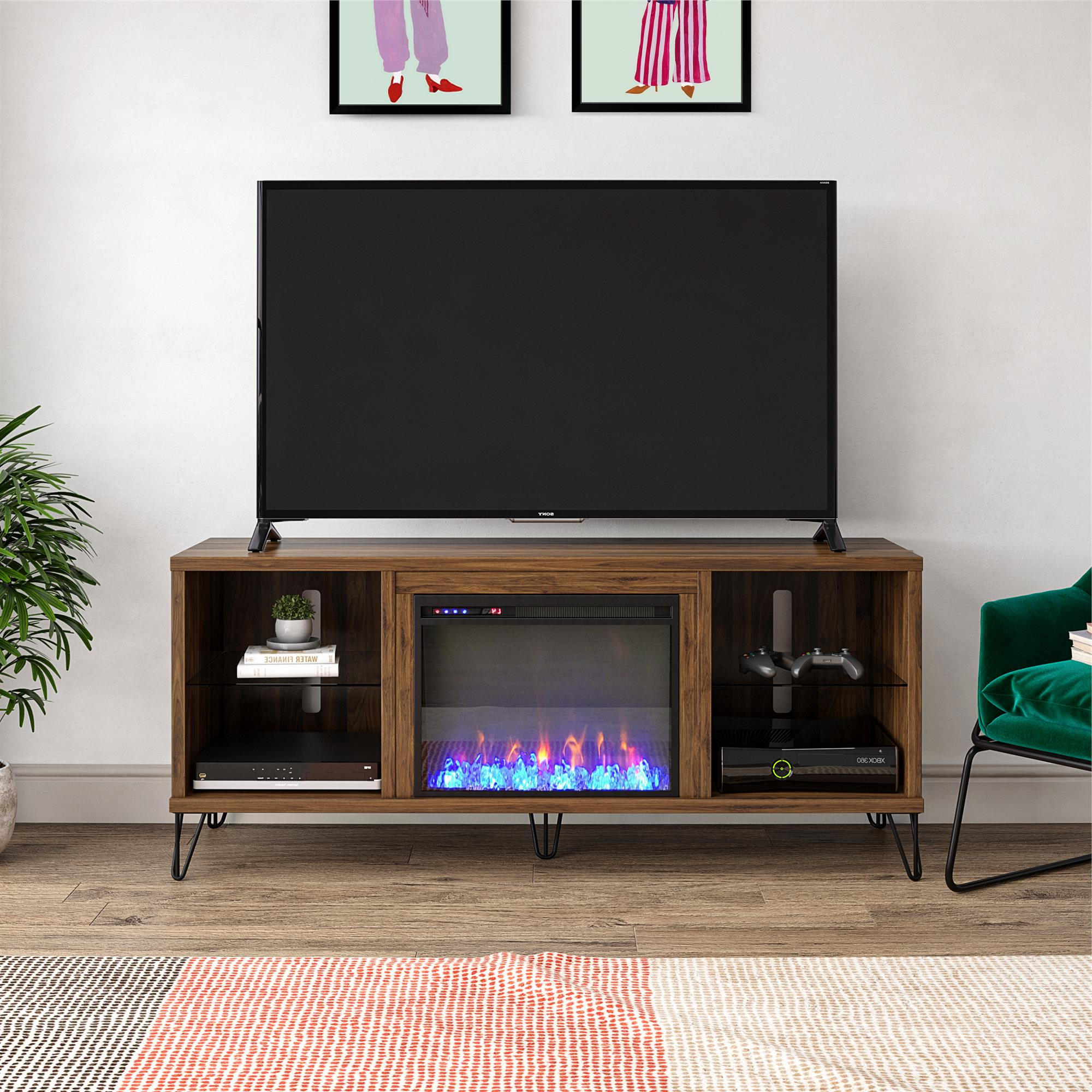 """Novogratz Concord Fireplace Tv Stand For Tvs Up To 70 Pertaining To 2019 Mainor Tv Stands For Tvs Up To 70"""" (View 7 of 20)"""