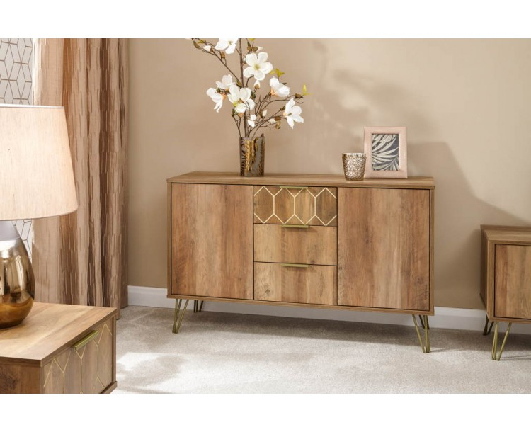 Orleans 2 Door 3 Drawer Cabinet Mango In Favorite 3 Drawer And 2 Door Cabinet With Metal Legs (View 2 of 20)