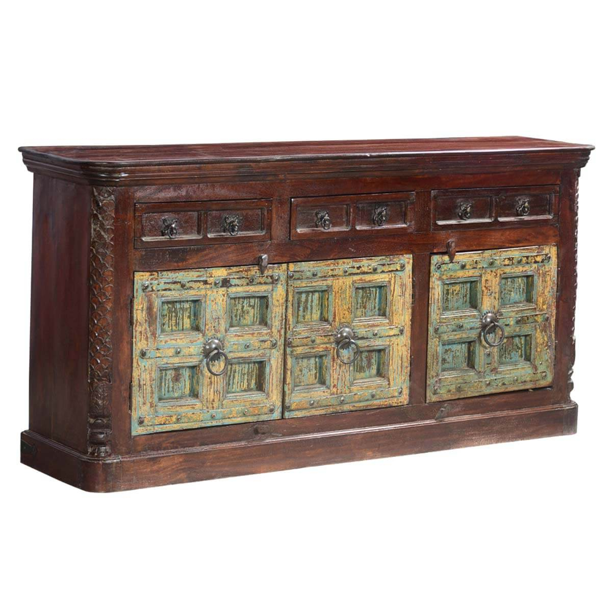 Orner Traditional Wood Sideboards Intended For 2020 Elizabethan Traditional Mango & Reclaimed Wood Buffet (View 12 of 20)