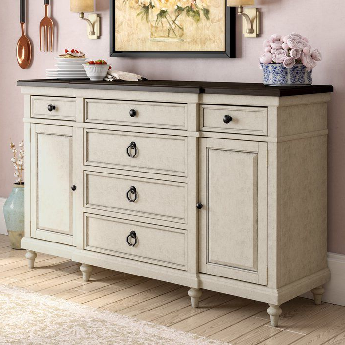 """Ornithogale 64"""" Wide 6 Drawer Sideboard (with Images Pertaining To Most Current 64"""" Wide Rubberwood Sideboards (View 12 of 20)"""