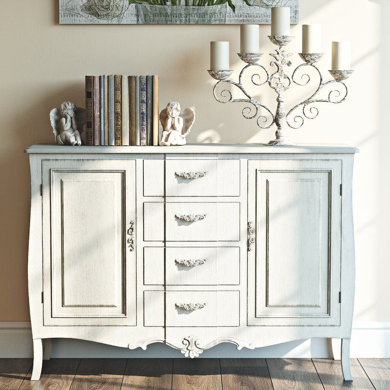 """Painted Wooden Throughout Desirae 48"""" Wide 2 Drawer Sideboards (View 14 of 20)"""