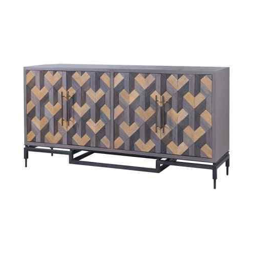 """Palisade 68"""" Wide Sideboards Intended For Famous Guildmaster 6417508 Gray Furniture 68"""" Wide Mahogany (View 7 of 20)"""